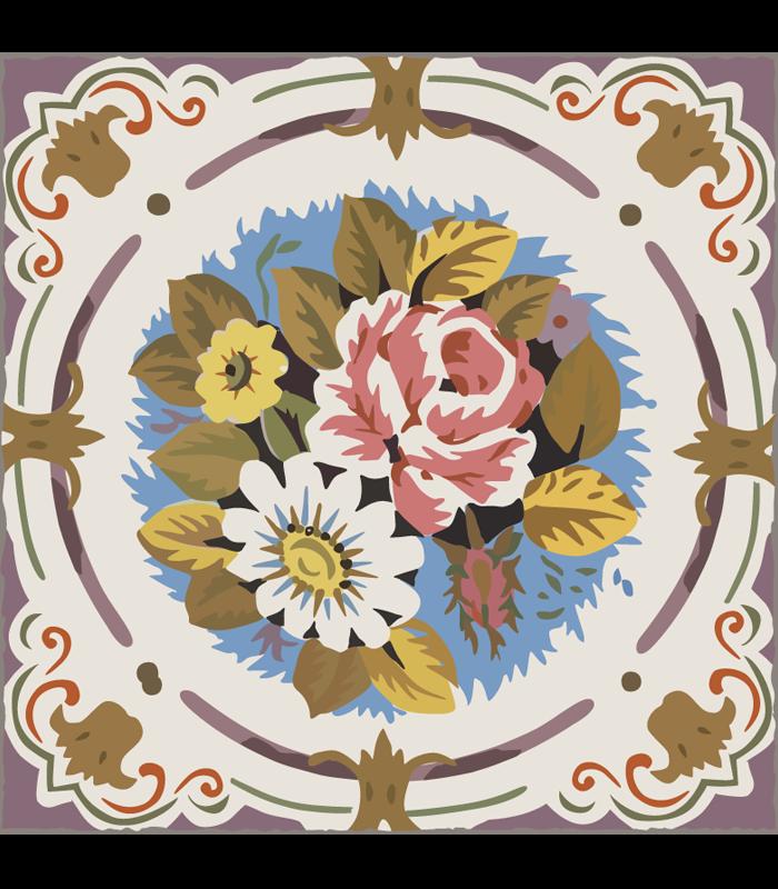 alfombra mosaico vintage